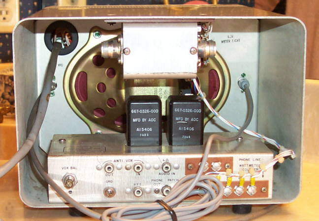 Back of RE 312B-5 Station Control/VFO