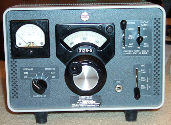 Front view of RE 312B-5 Station Control/VFO