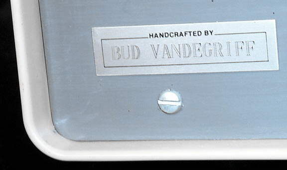 Built by Bud Vandergriff tag