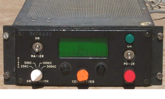 Front of G-186A panaramic spectrum display