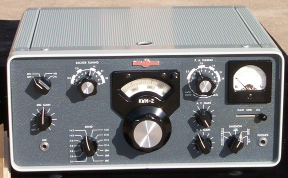 Front of KWM-2 Transceiver