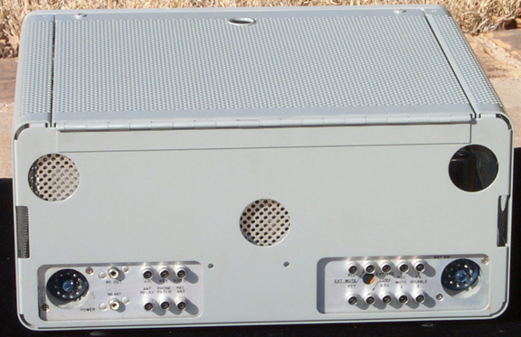 Back of KWM-2 Transceiver
