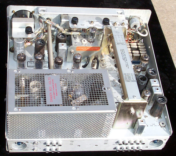 Top inside of KWM-2 Transceiver