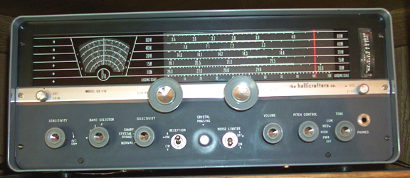 Front of SX-110 Receiver