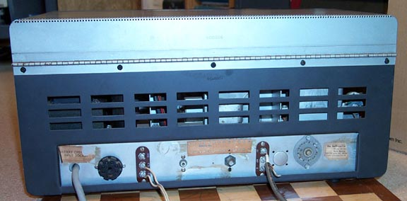 Back of SX-100 Mark 1A Receiver