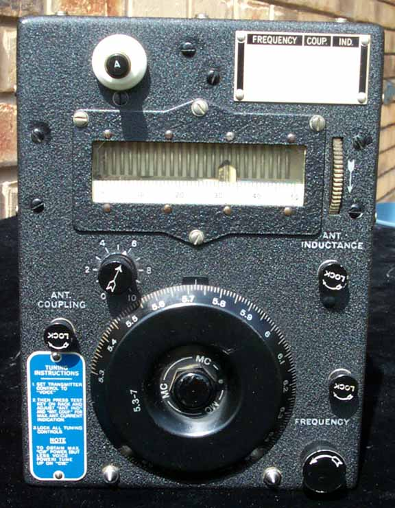 Front View of ARC-5 Transmitter